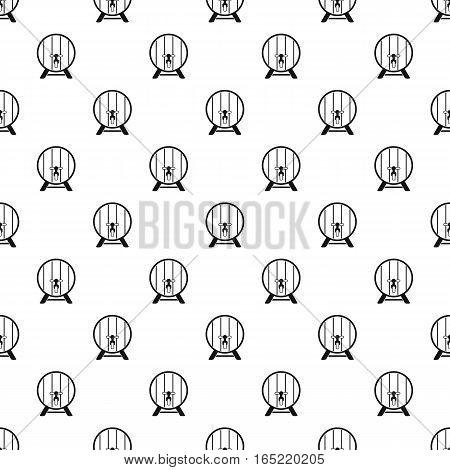 Wooden barrel with tap pattern. Simple illustration of wooden barrel vector pattern for web