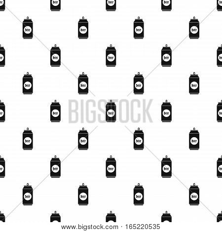 Aluminum beer can pattern. Simple illustration of aluminum beer can vector pattern for web