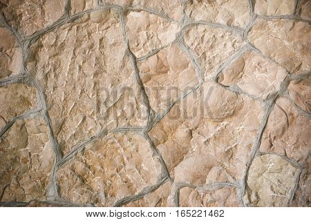 texture of Wild stone wall with place for text