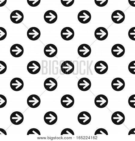 Arrow right circle button pattern. Simple illustration of arrow right circle button vector pattern for web