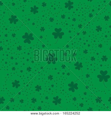 Seamless pattern with clover leaves. Picture ready for use in St. Patric holiday thematic