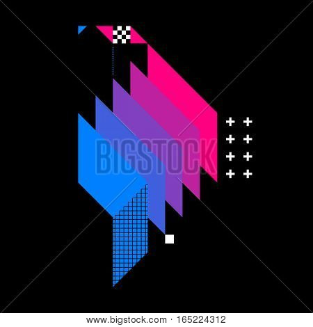 Abstract Geometric Element On Dark Background. Useful As Cd Cover, Print Or Poster.