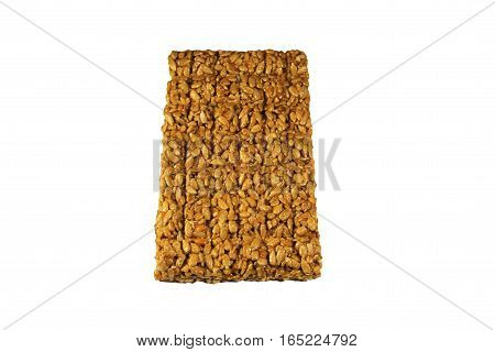 Brittles with sunflower seeds isolated on the white background