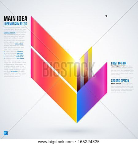 Futuristic Layout With Large Geometric Element. Useful For Presentations And Web Templates. Eps10 Ve