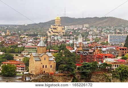 Nice view of Tbilisi (the capital of Georgia), Georgia