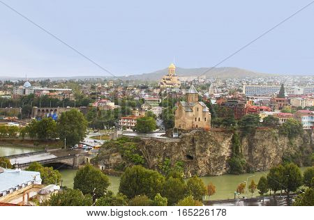 Panoramic view of Tbilisi,Georgia. Tbilisi is the capital and the largest city of Geogia with 15 mln people population
