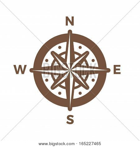 Navigation Compass Logo vintage design vector template. Wind rose Logotype Travel concept icon