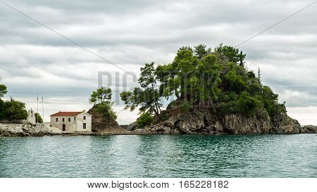 Island in the Ionian sea Parga Greece