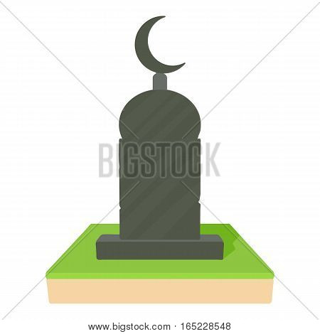 Muslim grave icon. Cartoon illustration of muslim grave vector icon for web