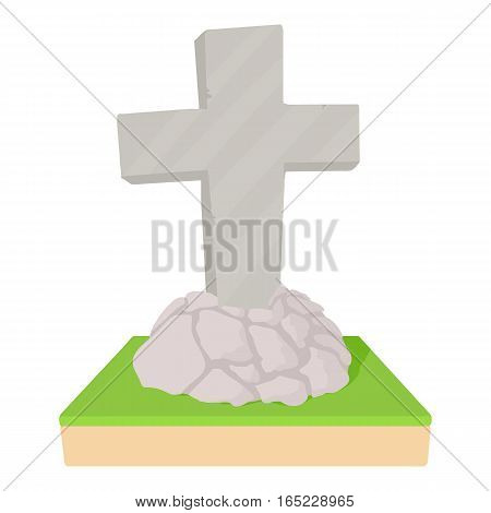 Grave icon. Cartoon illustration of grave vector icon for web