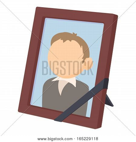 Memory portrait icon. Cartoon illustration of memory portrait vector icon for web