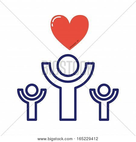 Family or society conceptual image protection vector help. People community logo donate screening medicine survivor. Healthcare national solidarity sign.