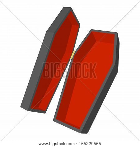 Coffin icon. Cartoon illustration of coffin vector icon for web