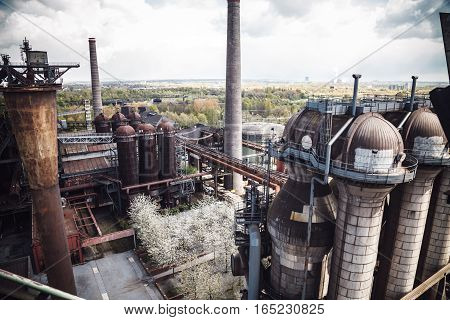 Industrial Heritage Installations At The Landscape Park Duisburg, Former Thyssen Company, Duisburg,