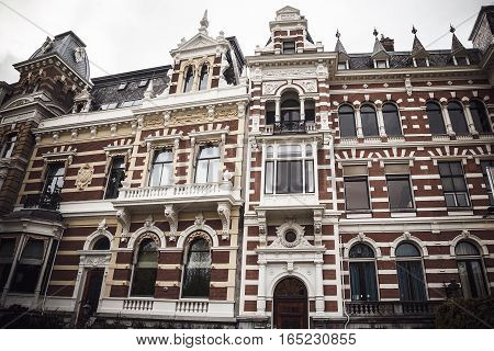 Picturesque Historical Building In Rotterdam, Netherlands. Stock Photo