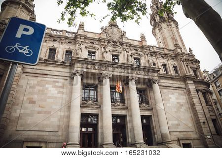 Architecture of Barcelona Spain. Correos telefrafos. Traveling in Europe