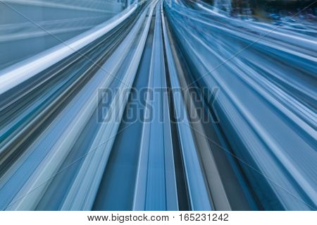 Metro train motion blurred abstract moving background
