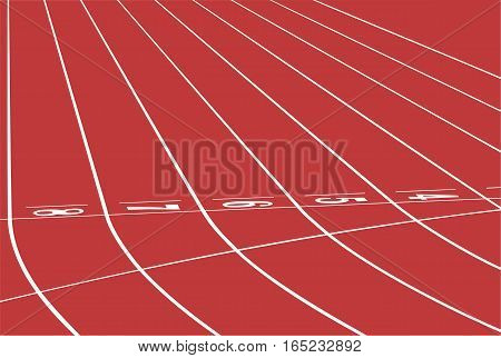 red track running sports stadium finish line