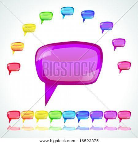 Set of speech bubbles - vector illustration