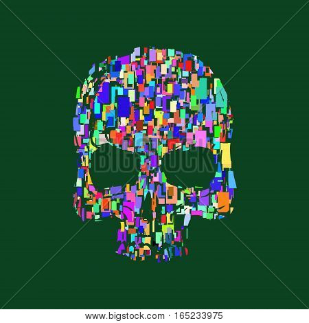 Skull illustration t-shirt graphics print. vector illustration