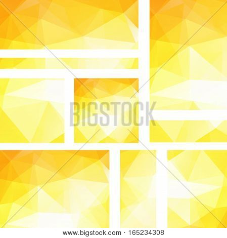 Horizontal And Vertical Banners Set With Polygonal Triangles. Polygon Background, Vector Illustratio
