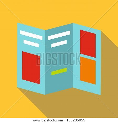 Folded paper icon. Flat illustration of folded paper vector icon for web