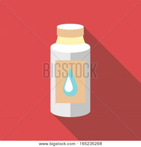 Plastic bottle icon. Flat illustration of plastic bottle vector icon for web