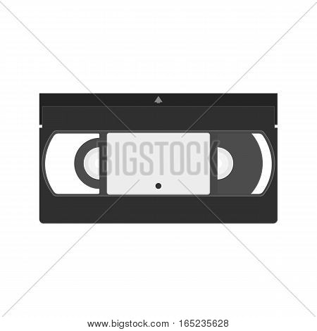 Vector VHS cassette icon. Videotape flat icon.