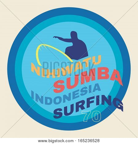 surf illustration, t-shirt graphics. Vector illustration for print