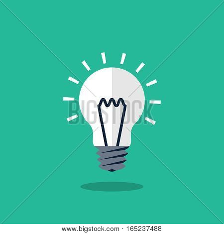 Light bulb icon, design element for mobile and web applications, eps 10