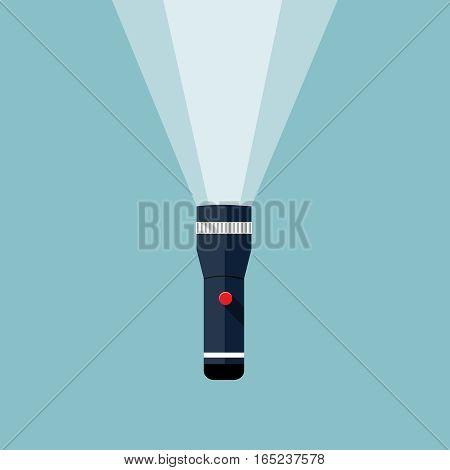 Flashlight illustration, design element for mobile and web applications, eps 10