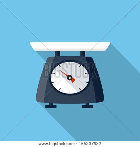 Kitchen scale flat icon, design element for mobile and web applications, eps 10