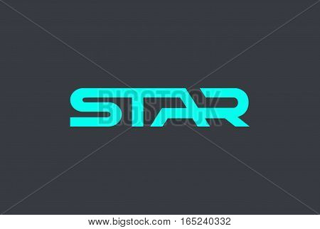 Star text Logo design vector template. Moder hitech lettering