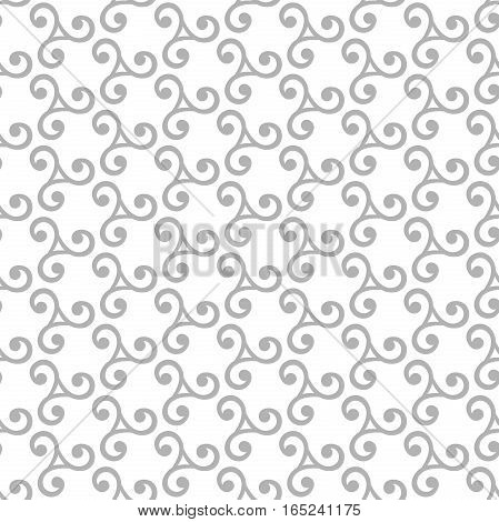 Seamless vector ornament. Modern background. Geometric pattern with repeating silver elements
