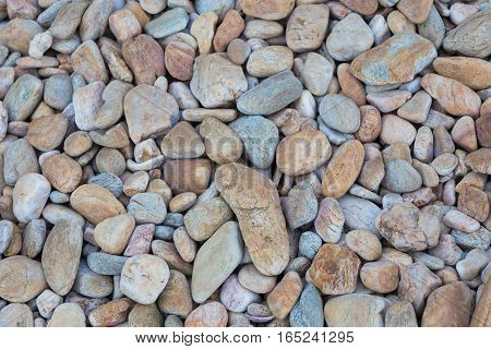 Natural round sea rock background and texture