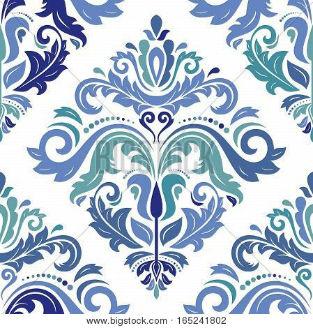 Oriental vector classic colored pattern. Seamless abstract background with repeating elements. Orient background