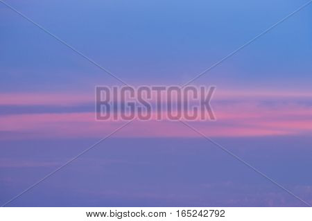 Twilight sky and clouds after sunset natural landscape background