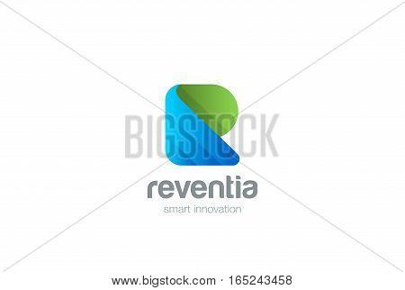 R letter Logo design vector template icon.