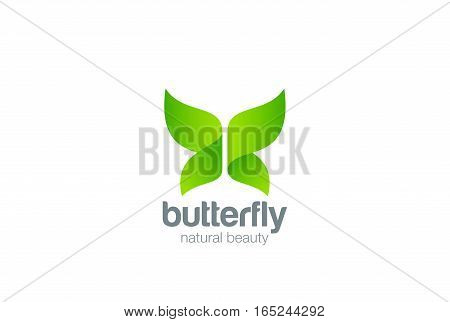 Butterfly Logo design abstract vector template. Beauty Fashion Eco Organic logotype concept icon