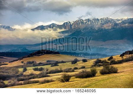 Snowy Peaks Of Tatra Mountains
