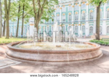Defocused Background,  Courtyard Of The Winter Palace, St. Petersburg, Russia