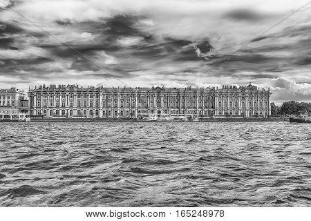 View Of The Winter Palace, Hermitage Museum, St. Petersburg, Russia