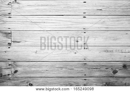 Old White Wooden Floor, Flat Photo Texture