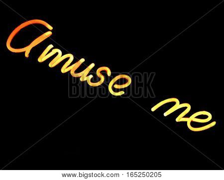 Abstract Creative Amuse Me Neon Light Sign