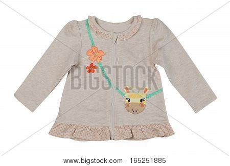Baby dress isolate on a white background