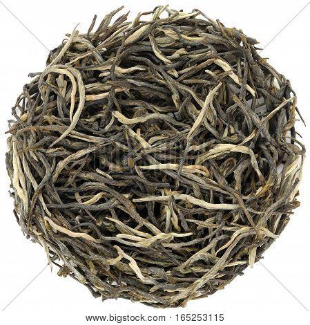 Yunnan Pine Needles green tea closeup macro