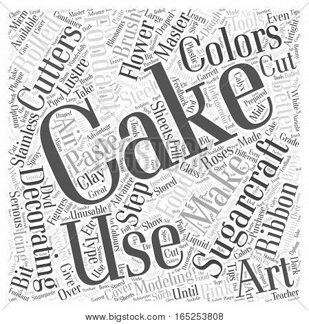 Cake Decorating How To Master Sugarcraft Word Cloud Concept