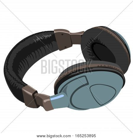 Headphones. Realistic image of headphones on the white background