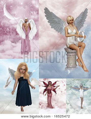 Angel collage