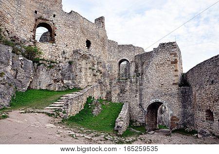 old castle ruins, Spis Castle, Slovakia, Europe